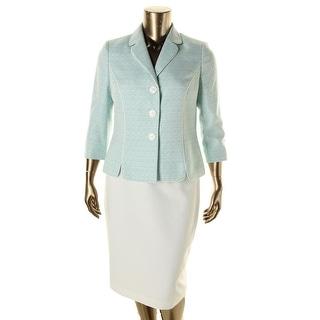 Le Suit Womens The Hamptons Textured 2PC Skirt Suit