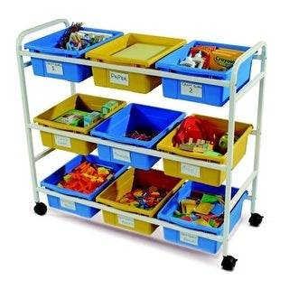 s Multi-Purpose Cart With Blue & Yellow Tubs