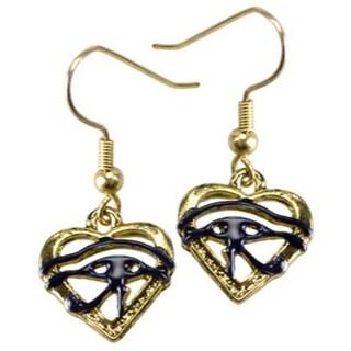 Eye of Horus Heart earrings