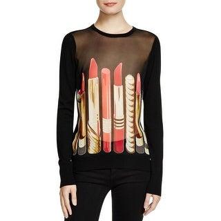 Equipment Femme Womens Pullover Top Wool/Silk Blend Printed - m