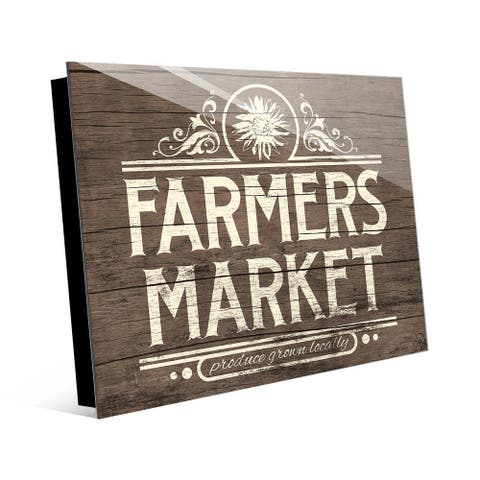 Kathy Ireland Rustic Farmer's Market Sign on Acrylic Wall Art Print