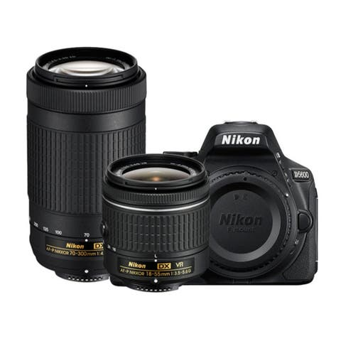 Nikon D5600 DSLR Camera with 18-55mm f/3.5-5.6 and 70-300mm Lenses
