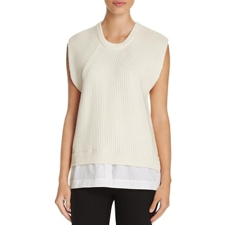 From China Free Shipping Clearance Supply Dkny Woman Knitted Top Ivory Size M DKNY WGLKqUJFn