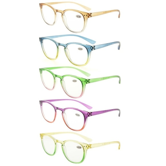 Eyekepper 5 Pack Fashion Readers Womens Reading Glasses (One for each color, +1.25)