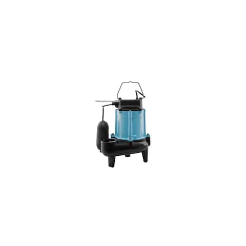 """Little Giant 511346 10SN 120 GPM 115V Submersible Sewage Pump with 2"""" Discharge and 20' Cord -"""