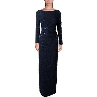 Lauren Ralph Lauren Womens Jaysona Formal Dress Lace Sequined
