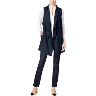 Kensie Womens Casual Vest Open Front Shawl Collar