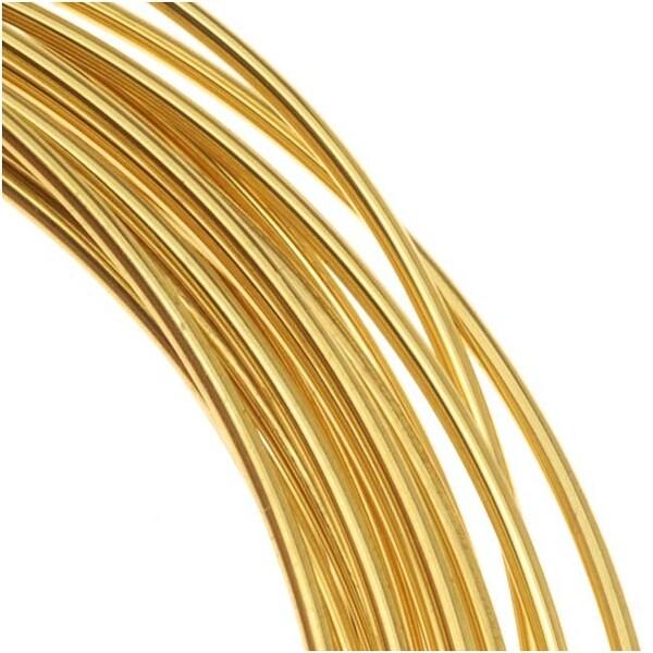 Beadsmith Brass German Bead Wire Craft Wire 26 Gauge/.4mm (20 Meters / 65.6 Feet)