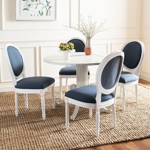 "Safavieh Dining Old World Holloway Navy Oval Dining Chairs (Set of 2) - 19.8"" x 20"" x 39"""