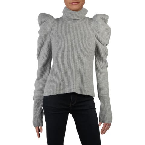 A.L.C. Womens Pullover Sweater Ruffled Long Sleeves - Husky - L