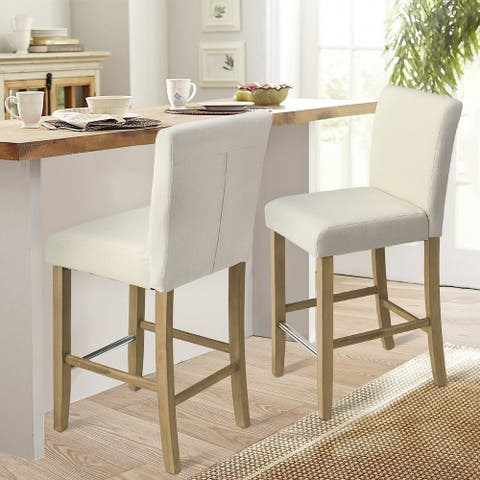 """JILI Comtemporay Counter Height Stools, 26"""" Seat Height Set of 2 - 40""""x19""""x17"""""""