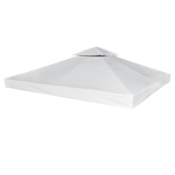 vidaXL Waterproof Gazebo Cover Canopy 310 g / m² Cream White 10' x