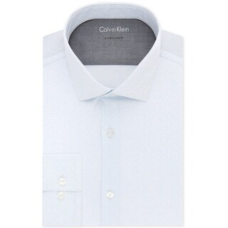 "Link to Calvin Klein Mens Thermal Button Up Dress Shirt, blue, 16""-16.5"" Neck 32""-33"" Sleeve Similar Items in Shirts"