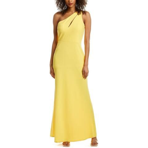 Bebe One-Shoulder Gown
