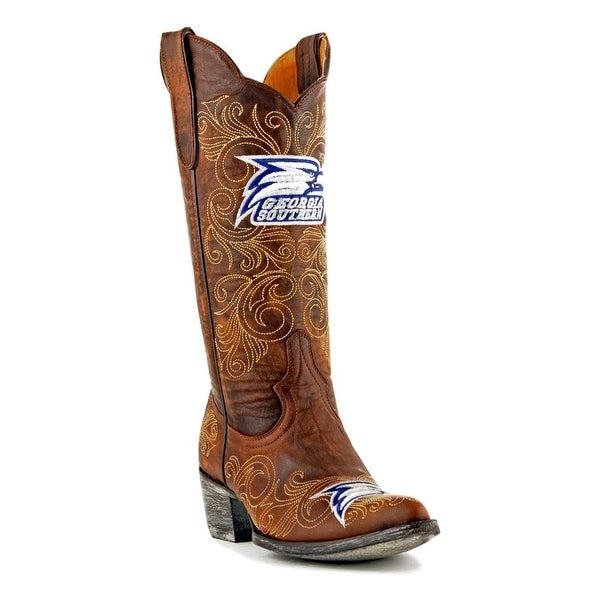 Gameday Boots Womens College Eagles Georgia Southern Brass