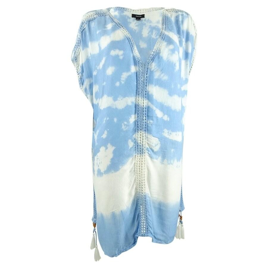 New Raviya Swimsuit Cover Up Tunic Dress Size M Black Blue