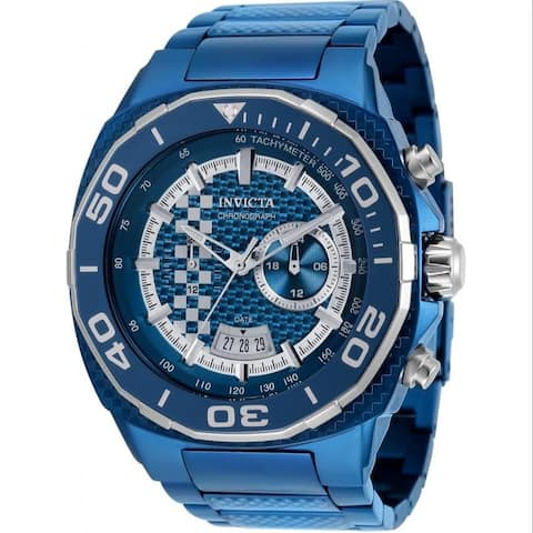 Invicta Men's 33200 'Speedway' Blue Stainless Steel Watch