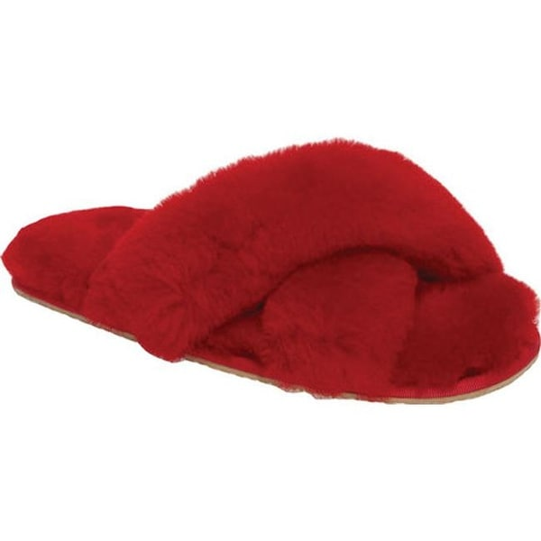 045da2b64e4 Shop Patricia Green Women s Mt. Hood Fluffy Slipper Red Shearling - On Sale  - Free Shipping Today - Overstock - 19452081
