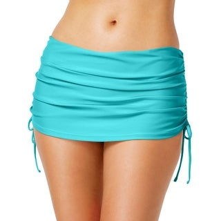 Island Escape Womens Ruched Skirtini Swim Bottom Separates