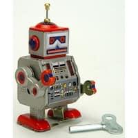 "Vintage Style 3.75"" Tin Transmission Robot - Multi"