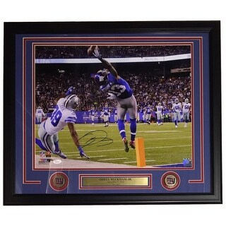 Odell Beckham Jr. Signed Framed The Catch 16x20 Giants Photo JSA