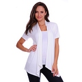 Simply Ravishing Women's Basic Short Sleeve Open Cardigan (Size: Small-5X) - Thumbnail 5
