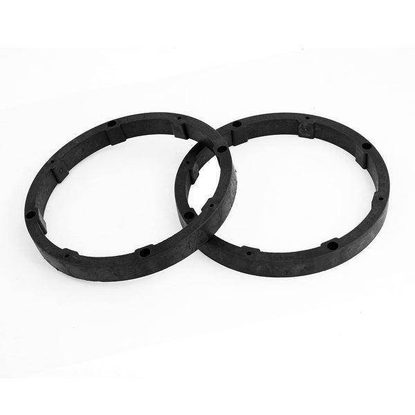 Unique Bargains 2pcs Black Round Vehicle Car Speaker Spacers 14mm Depth 165mm Dia