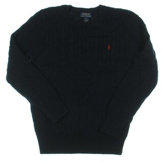 Polo Ralph Lauren Boys Pullover Sweater Ribbed Trim Cable Knit - L