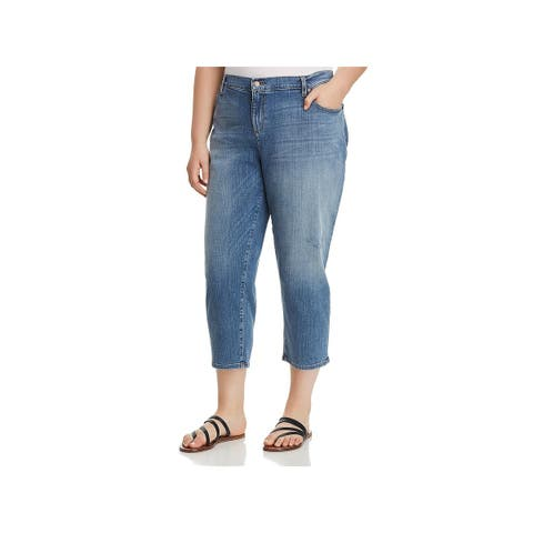 Eileen Fisher Womens Plus Jeans Denim Cropped