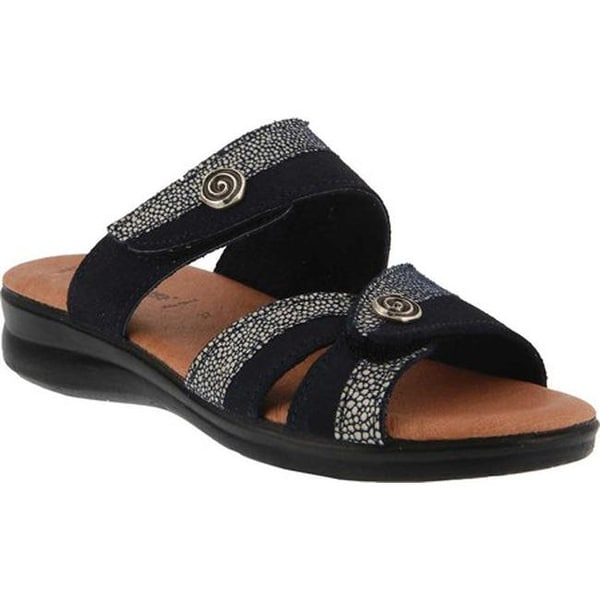 1192a561d53 Shop Flexus by Spring Step Women s Quasida Slide Sandal Navy Multi ...