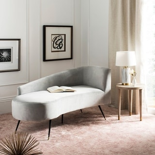 "Link to Safavieh Ezra Grey/ Black Settee - 57.5"" x 27"" x 28"" Similar Items in Living Room Furniture"