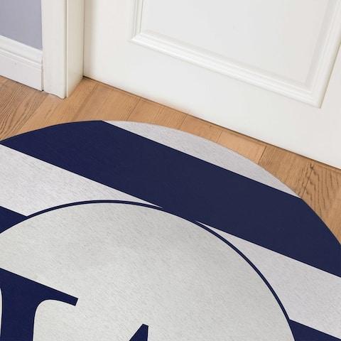 MONO NAVY STRIPED W Indoor Floor Mat By Kavka Designs