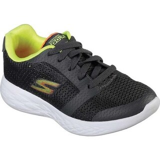 Skechers Boys' GOrun 600 Zeeton Running Shoe Charcoal/Lime