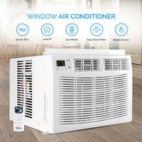 DELLA Air Conditioner 18000 BTU AC Window Mounted Remote Control White Energy Star Washable Filter Cool Up to 1000 SQ FT