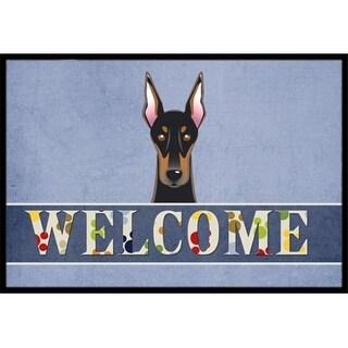 Carolines Treasures BB1431MAT Doberman Welcome Indoor & Outdoor Mat 18 x 27 in.