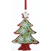 "6"" Christmas Traditions Glitter Drenched Snowflake Tree Holiday Ornament"