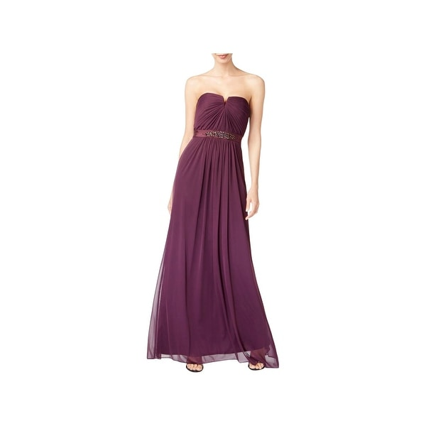 Adrianna Papell Womens Formal Dress Strapless Special Occasion