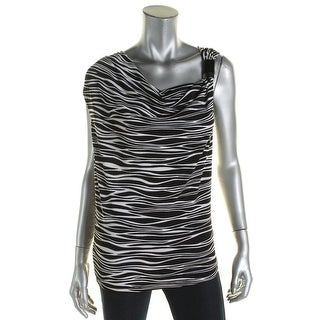 MICHAEL Michael Kors Womens Tank Top Matte Jersey Zebra Print - s
