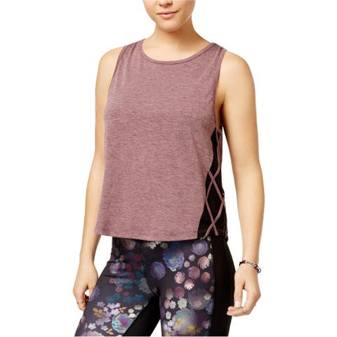Jessica Simpson Womens Mesh Detail Tank Top, purple, X-Large