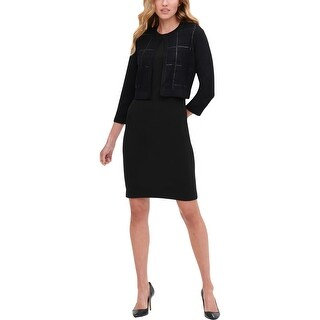 Link to Tommy Hilfiger Womens Shrug Sweater Cropped Layering - Black Similar Items in Big & Tall