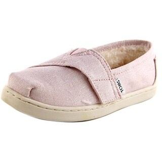 Toms Classic Youth Round Toe Canvas Pink Loafer