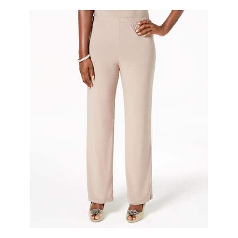 R&M RICHARDS Womens Beige Hi-waisted Stretch Wear To Work Pants Size: L