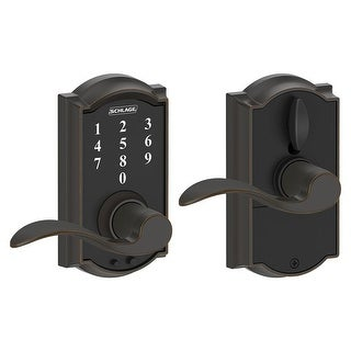 Schlage FE695-CAM-ACC Camelot Touch Entry Door Lever Set with Accent Lever