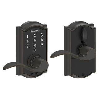 Schlage FE695-CAM-ACC-RF Camelot Touch Entry Door Lever Set with Accent Lever- Manufacturer Refurbished - N/A