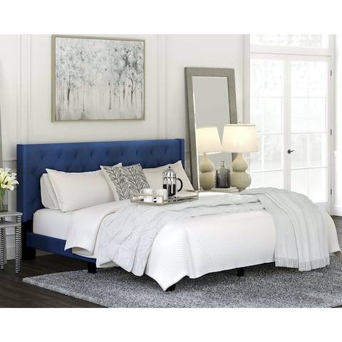 Vintasso Blue Upholstered Bed