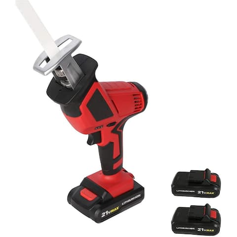 20-Volt Max Lithium-Ion Cordless Reciprocating Saw, w/2 Batteries