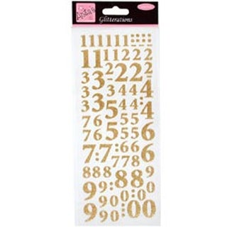 Gold - Anita's Glitterations Numbers