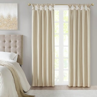 Link to Madison Park Natalie Twist Tab Total Blackout Single Curtain Panel Similar Items in As Is