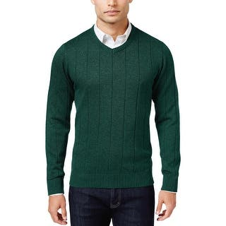 John Ashford Mens Ribbed V-Neck Sweater Dark Forest Green Large L|https://ak1.ostkcdn.com/images/products/is/images/direct/1344505eb7c540c3dc6109ec9a13fc7143019b87/John-Ashford-Mens-Ribbed-V-Neck-Sweater-Dark-Forest-Green-Large-L.jpg?impolicy=medium