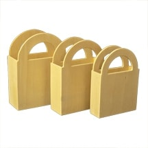 5 Pcs of Nested Pocket Craft Boxes (Set of 3)